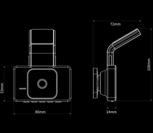 JADOD330CarDVRCameraWIFISpeedNGPSDashcamFHD1080PDashCam24HPark 25 Caméra Enregistreur Vidéo HD Pour Voiture: Avec Vue Avant et Arrière et 1080p Vision Nocturne