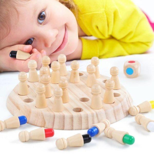 JeuDeMemoireEnBois 6 Jeu De Mémoire En Bois: Améliorer L'imagination Votre Enfant De Manière Amusante !