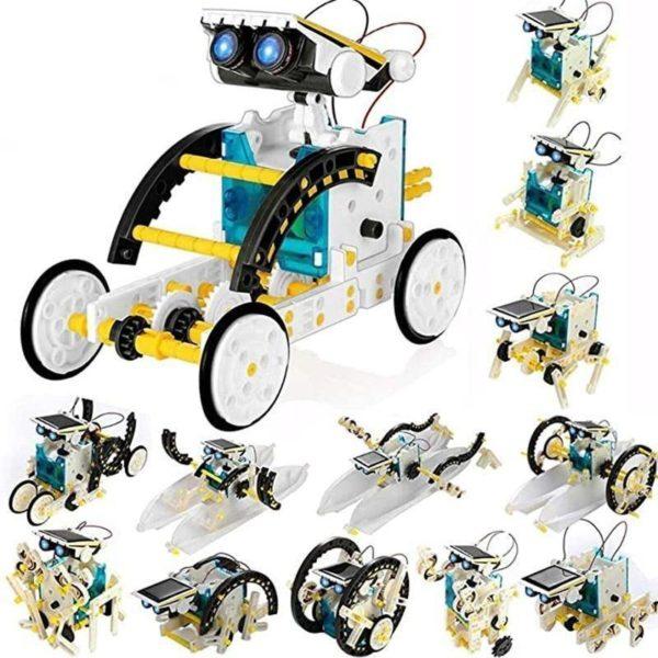 Jouets tige ducatifs 13 en 1 Robot solaire Kit de jouets scientifiques blocs nergie solaire pour Jouet Robot Solaire Éducatif: Cadeau De Vacances Ou De Noël Parfait Pour Tout Enfant!