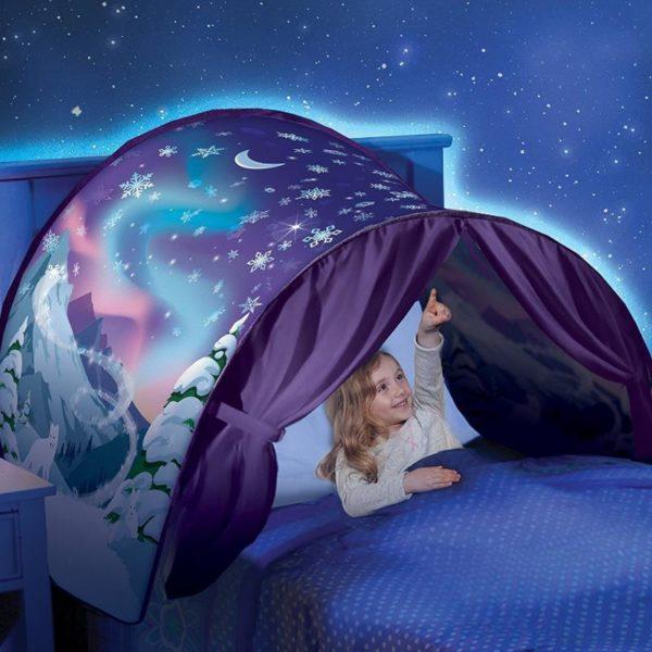Kids Tents Baby Pop Up Bed Tent Cartoon Snowy Foldable Playhouse Comforting At Night Sleeping Outdoor 1024x1024 8db5b264 f7bc 4ce7 a9c9 d7df196be5a8 MyTente : Transforme le Lit de Votre Enfant en un Monde Féerique