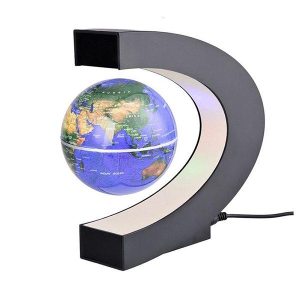 Kuulee LED lectronique l vitation magn tique flottant Globe antigravit LED veilleuse d cor la maison Lampe À Globe Flottant À Led : Tourne Autour À L'aide D'un Système Magnétique À Commande Électronique.