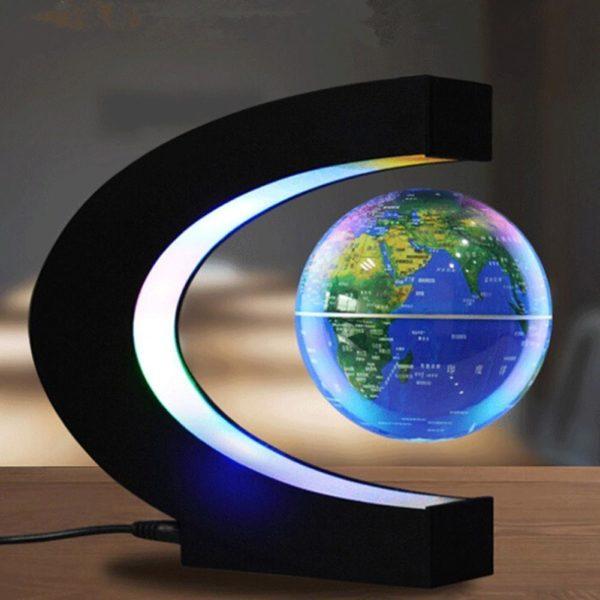 Kuulee LED lectronique l vitation magn tique flottant Globe antigravit LED veilleuse d cor la maison 4282c130 13d9 4e6a b168 ea3473aac5cf Lampe À Globe Flottant À Led : Tourne Autour À L'aide D'un Système Magnétique À Commande Électronique.