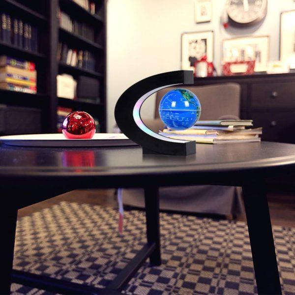 Kuulee LED lectronique l vitation magn tique flottant Globe antigravit LED veilleuse d cor la maison 4993ae66 852e 46ff 87c0 b53ff34ab385 Lampe À Globe Flottant À Led : Tourne Autour À L'aide D'un Système Magnétique À Commande Électronique.