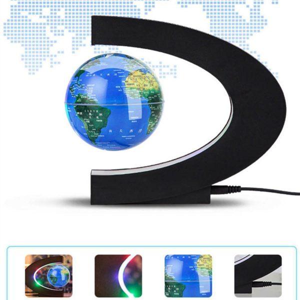 Kuulee LED lectronique l vitation magn tique flottant Globe antigravit LED veilleuse d cor la maison c6cb6348 0a5b 4248 bbe7 66411ac51a7f Lampe À Globe Flottant À Led : Tourne Autour À L'aide D'un Système Magnétique À Commande Électronique.