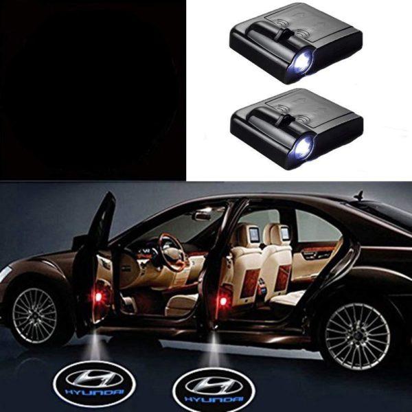 Logo Led Pour Voiture : Projecteur Pour Portière (2 pcs) - Hyundai