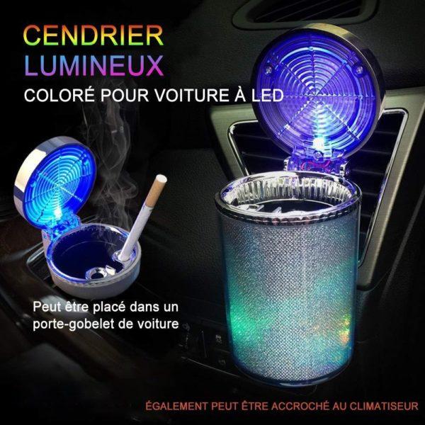 LED Cendrier Lumineux Colorés De Voiture : Accessoire De Voiture Idéal Pour Les Fumeurs