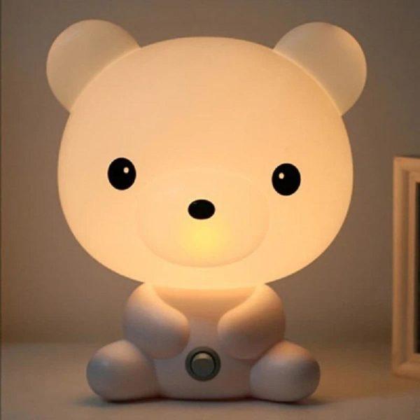 Lampe Veilleuse Led Pour Bébé : Idéal Pour Une Chambre D'enfant Ou Pour Décorer Votre Salon - Ourson