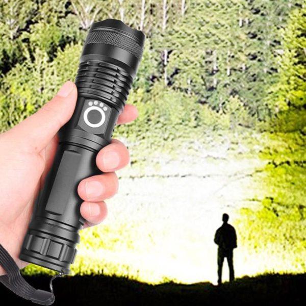 Lampedepocheportable 1 Lampe De Poche Portable: Permet Un Éclairage Ultra Puissant Même Dans Le Noir Le Plus Complet