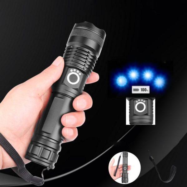 Lampedepocheportable 4 Lampe De Poche Portable: Permet Un Éclairage Ultra Puissant Même Dans Le Noir Le Plus Complet