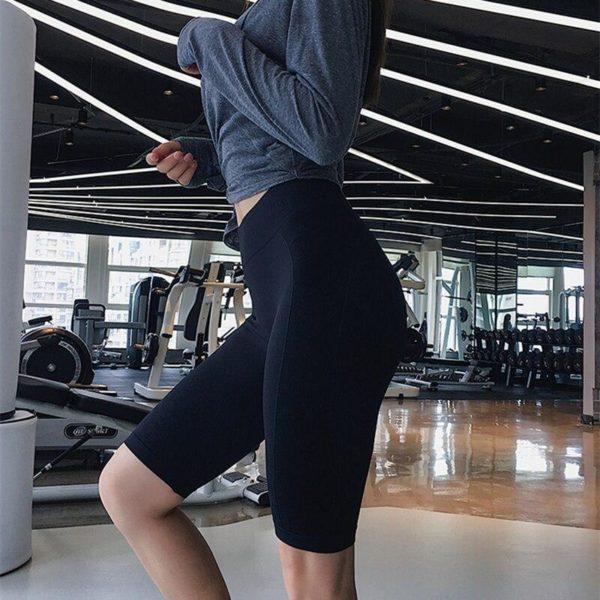 Les Shorts de Yoga sans couture d nergie de taille haute de femmes poussent le short b7d1d388 99d2 41af 86e1 abb9f1c42b24 Shorts De Sport Pour Femmes: Idéal Pour Toutes Les Activités Sportives