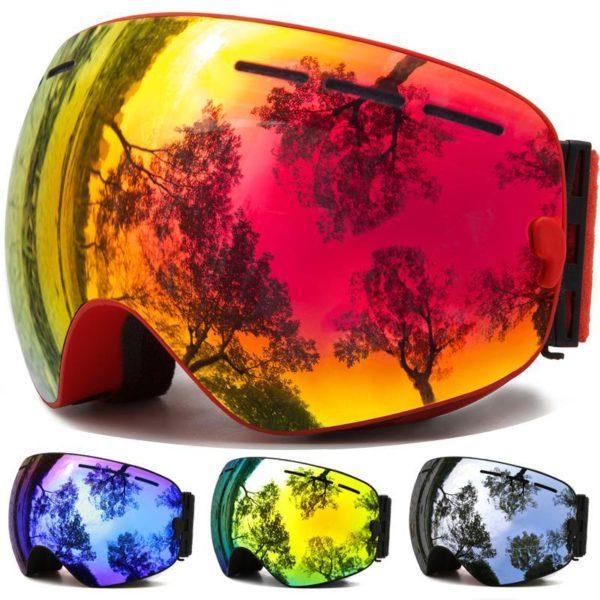 Lunettes de Ski lunettes de Sports de neige d hiver avec Protection Anti bu e UV Masque De Ski : La Meilleure Protection Pour Vos Yeux Contre L'eblouissement