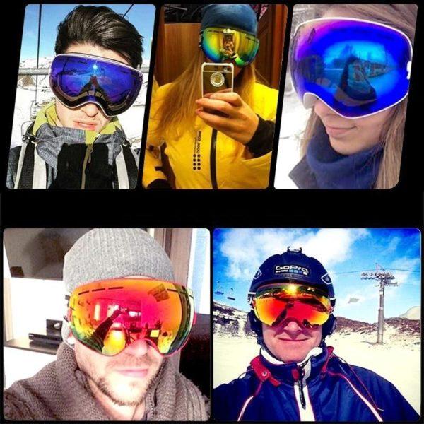 Lunettes de Ski lunettes de Sports de neige d hiver avec Protection Anti bu e UV e1581f8f efad 4ebe 9630 6dfb581e086f Masque De Ski : La Meilleure Protection Pour Vos Yeux Contre L'eblouissement