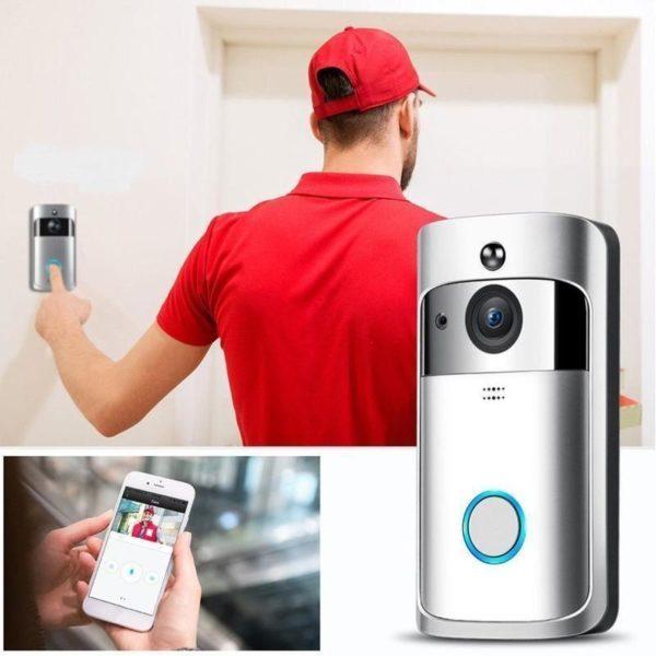 M3 Night Vision WIFI Smart Video Doorbell Wireless Portable Home Door Bell Cordless Phone Intercom Smart 4 1000x.progressive 1080x 400x 2x 1024x10 cdf50504 bd15 429e a70b 94f1248e6e56 Caméra de Surveillance Sans Fil et Sonnette Connectée 720P