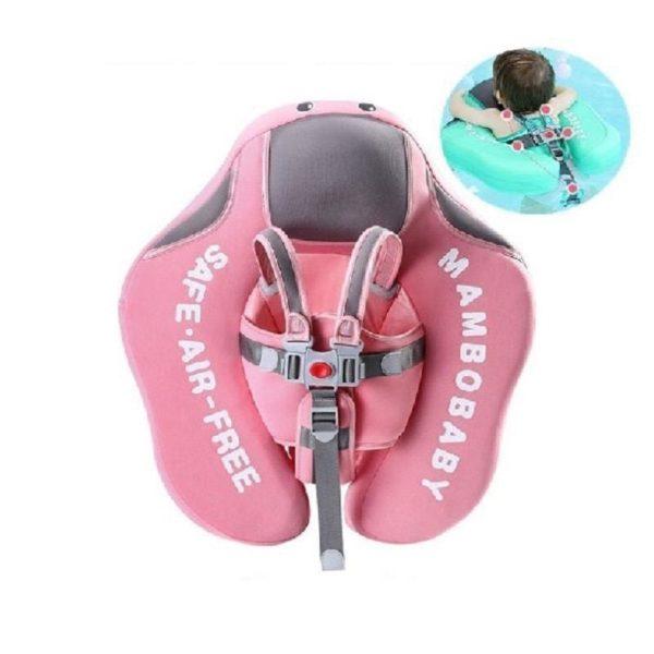 Mambo Flotteur : Bouée Bébé, Votre enfant peut jouer dans l'eau confortablement (3 à 24 mois) - Rose / Sans Parasol