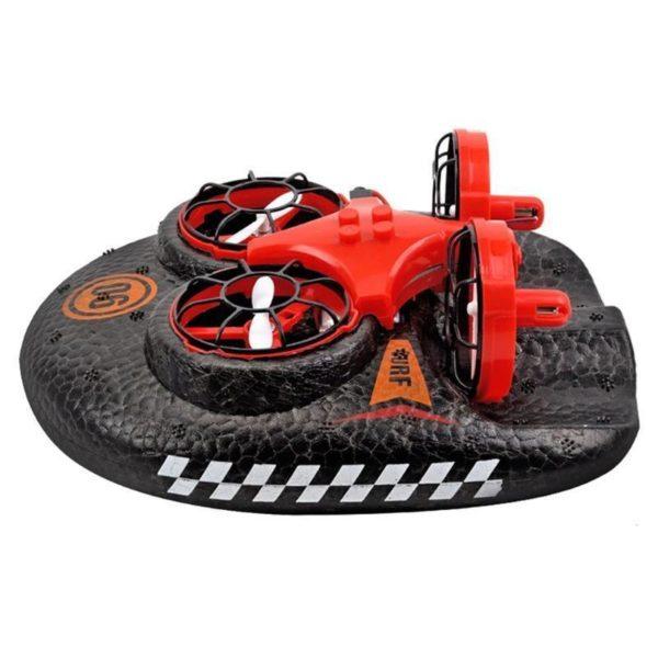 Mer terre et Air jouets amphibies Mini Drone t l commande voiture Simulation Hovercraft 2 4g Mini Drone Amphibie : Combinaison D'avion Et De Coque En Mousse