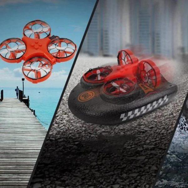 Mini Drone Amphibie : Combinaison D'avion Et De Coque En Mousse - Orange