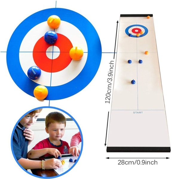 Mini Table boule friser jeu de friser de Table compacte friser jeux de famille eau froide Mini Jeu De Curling De Table: Le Meilleur Jeu Pour Chaque Occasion!
