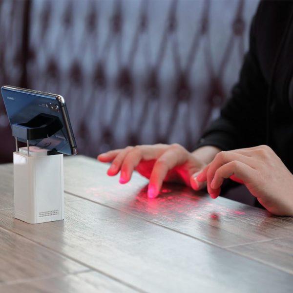 Mini clavier de Projection sans fil de clavier de laser virtuel de Bluetooth Portable pour l 9fb59c94 332c 40fa bd79 316964f61884 Clavier De Projection Sans Fil De De Laser : Prend En Charge Usb Et Bluetooth