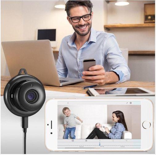 MiniCameraDeSurveillanceprenddesphotosetdesvideosinstantanees Mini Caméra De Surveillance: prend des photos et des vidéos instantanées