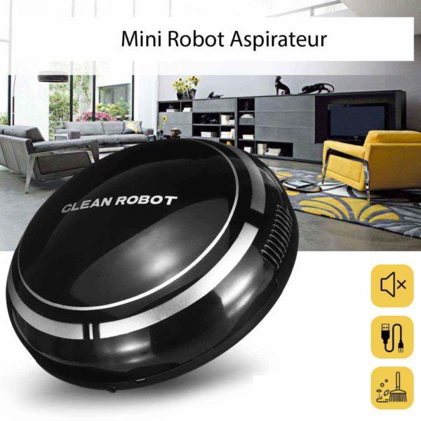 MiniRobotAspirateur 2 Mini Robot Aspirateur : Sans Fil, Léger, Portable Pour Sol Et Moquettes