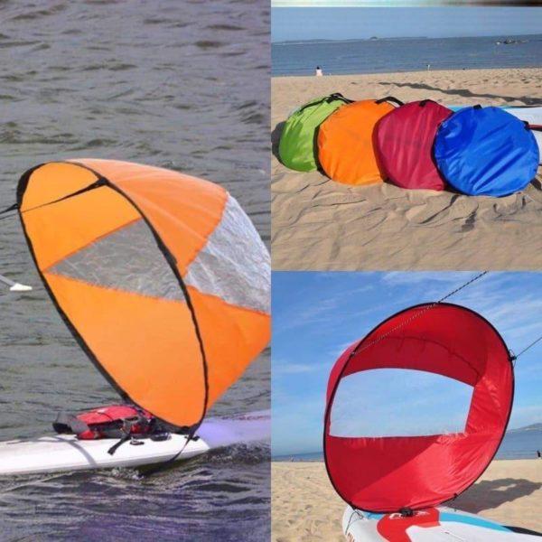 Mini Voile Portable : Que Vous Soyez Sur Un Kayak Ou Même Un Paddle - Orange