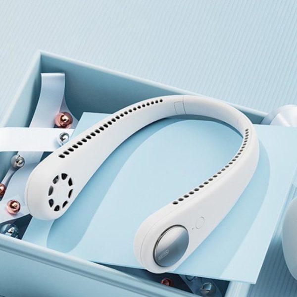 Miniventilateurde 34 Éventail Paresseux Suspendu : USB Rechargeable Avec 48 Évents Environnants