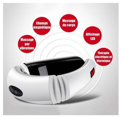 MonAnneau Anneau de massage Pour La nuque 13 Cervical Masseur : Masseur Electrique de Cou Chauffant Sans Fil