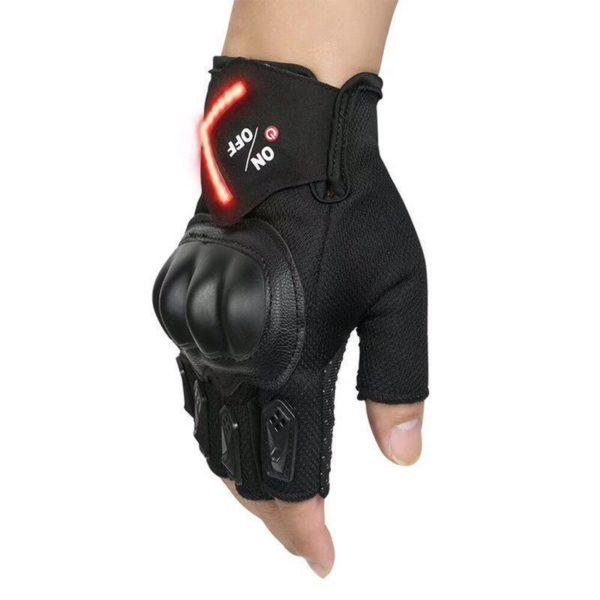 Motorcycle Bike Half Finger Smart Glove Women Cycling Gym Anti slip Pad Riding Tactical Gloves LED 542c1333 0623 4978 91b6 de088ff98977 Gant Signal Rechargeables : Vous Permet de Signaler Votre Présence