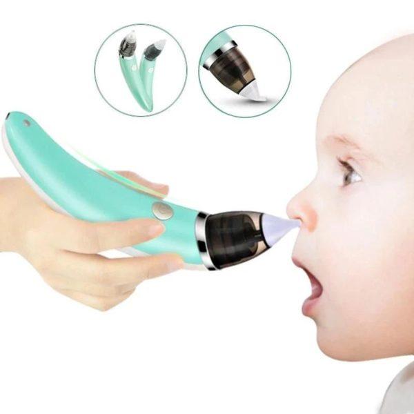 Mouche bebeElectrique 16 Mouche-bébé Électrique : Aspirateur Nasal Électrique Intelligent Pour Les Bébés