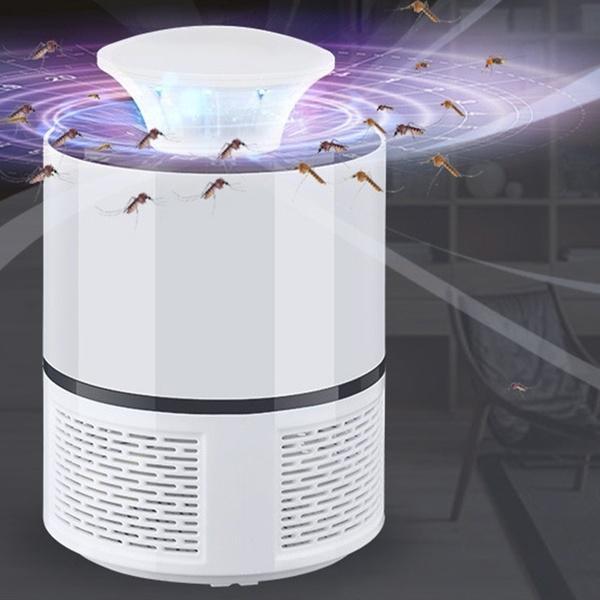 MoustiKill : Lampe Électrique Anti-Moustiques à Lumière LED et Aspiration Puissante - blanc