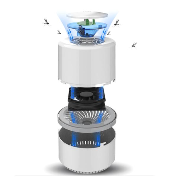 MoustiKill Lampe Electrique Anti Moustiques a Lumiere LED et Aspiration Puissante. 3 MoustiKill : Lampe Électrique Anti-Moustiques à Lumière LED et Aspiration Puissante