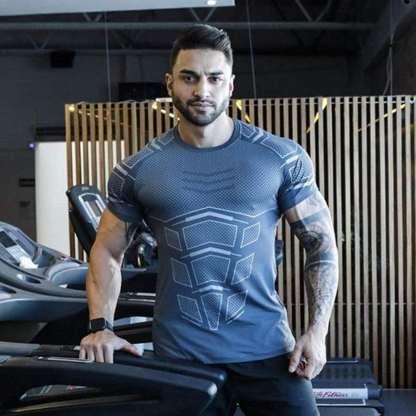 T-shirt Musculation Pour Hommes Pour Physique Incroyable - Gris 2 / M