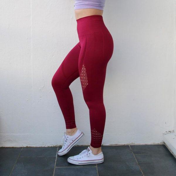 Pantalon De Yoga Pour Femme: Parfait Pour Porter À N'importe Quelle Séance De Sport Ou De Yoga - Rouge / Petit