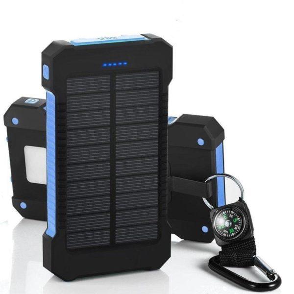 Batterie de Secours Solaire : Puissant, Léger et Compact 20000 mAh - bleu