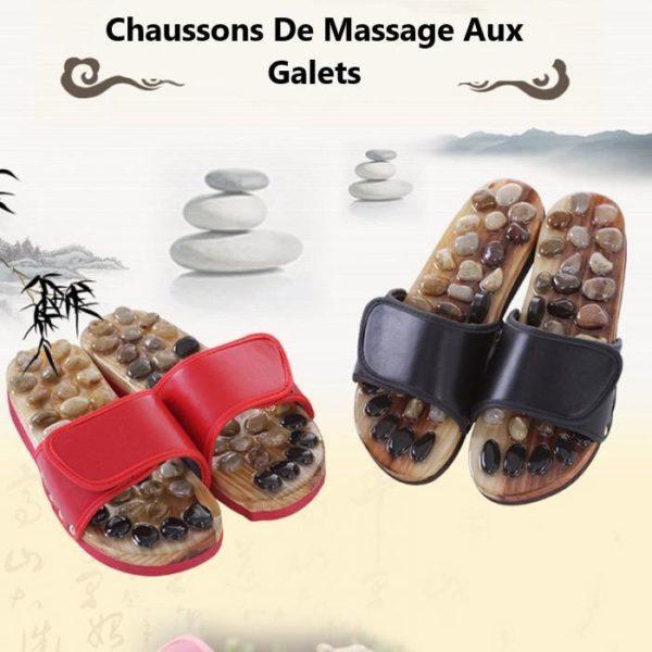 Chaussons de massage aux galets : Massage Pour Soulager La Pression Des Pieds