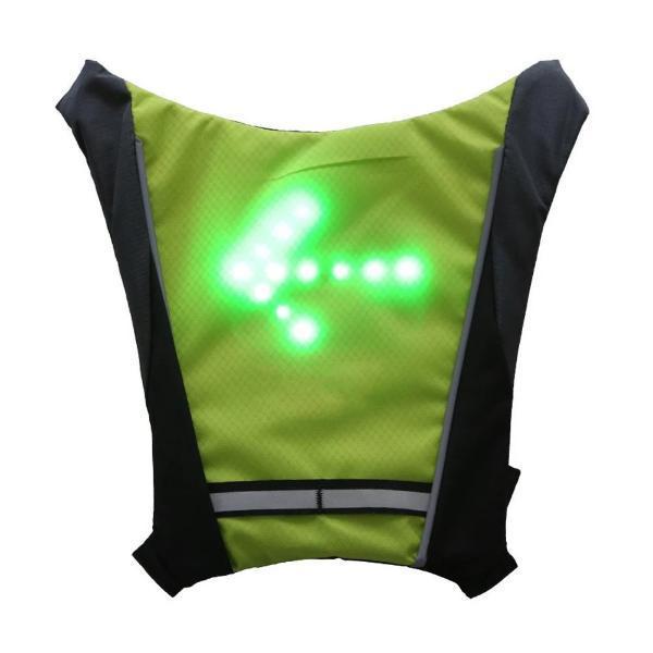 Nouveau 2019 LED sans fil cyclisme gilet 20L vtt v lo sac s curit clignotant LED Sécurité Gilet de Cyclisme à LED : Rechargeable par USB