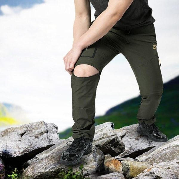 Pantalons De Randonnée En Plein Air: Vous Permet Une Grande Liberté De Mouvement - Vert / L(68-82 cm)