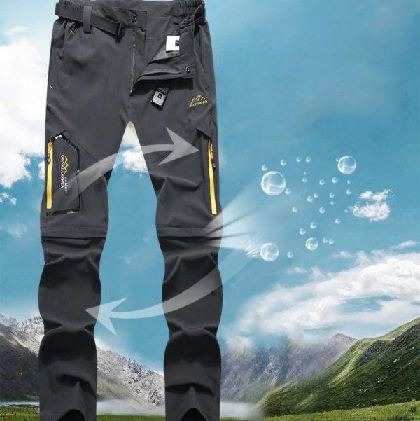 Pantalons De Randonnée En Plein Air: Vous Permet Une Grande Liberté De Mouvement - Gris / L(68-82 cm)