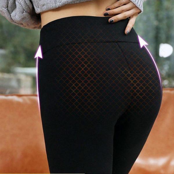 Pantalon d hiver Leggings thermiques pantalon taille haute pour femmes flanelle Streetwear pantalon femmes hiver pantalons ebba40e7 9d62 47f3 a6c1 d9e40e6a84b3 Leggings D'hiver en Molleton : Gardez au Chaud Par Temps Frais et Froid