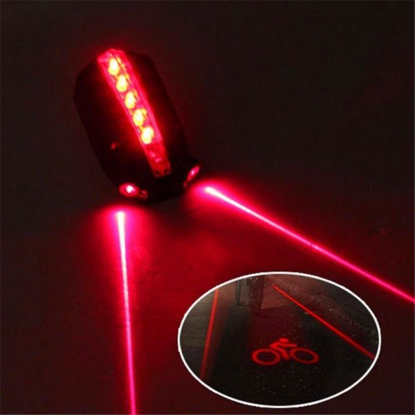 Plein air et Sport 2 Laser 5 LED v lo arri re v lo feu arri Projecteur Laser : Rappeler À Quelqu'un De Garder Ses Distances