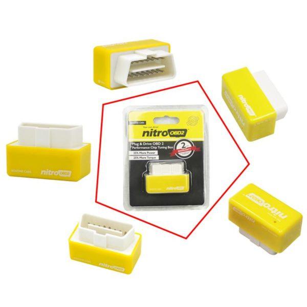 Eco Obd2 ™ – Economiseur de carburant pour Voitures Diesel et Essence - Essence jaune