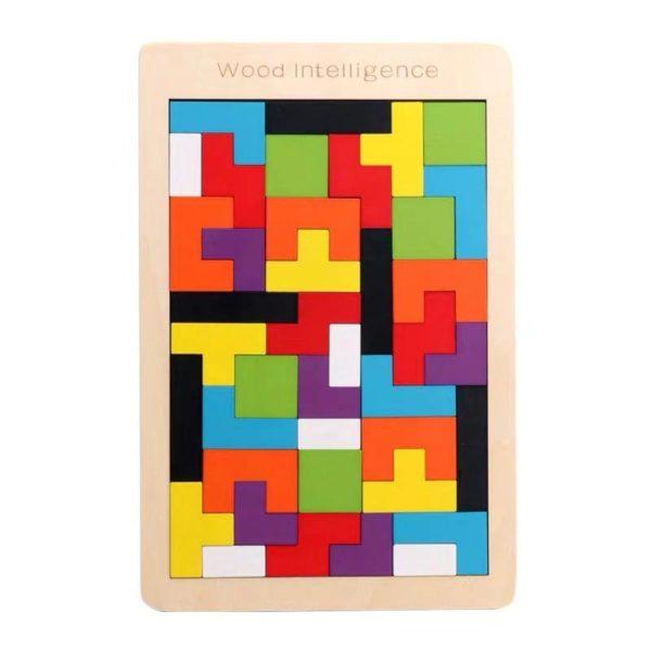 PuzzleTetrisEnBois 1 Puzzle Tetris En Bois: Contribuer Aux Développements De Vos Petits