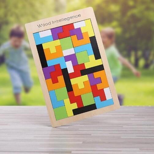 PuzzleTetrisEnBois 2 Puzzle Tetris En Bois: Contribuer Aux Développements De Vos Petits