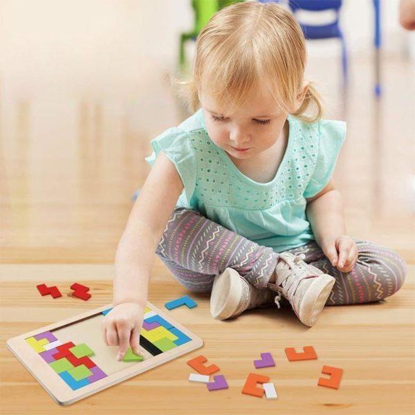 PuzzleTetrisEnBois 3 Puzzle Tetris En Bois: Contribuer Aux Développements De Vos Petits