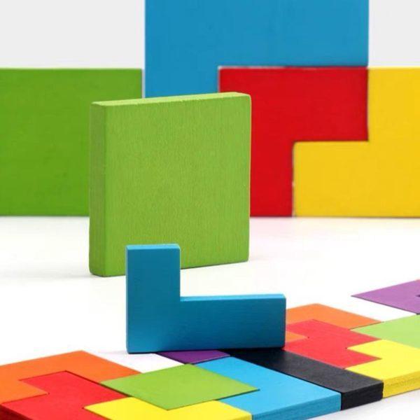 PuzzleTetrisEnBois 4 Puzzle Tetris En Bois: Contribuer Aux Développements De Vos Petits