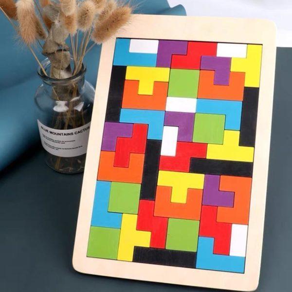 PuzzleTetrisEnBois 5 Puzzle Tetris En Bois: Contribuer Aux Développements De Vos Petits