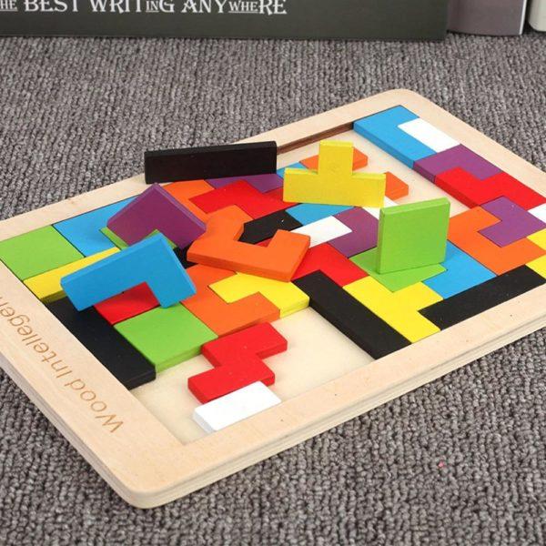 PuzzleTetrisEnBois 6 Puzzle Tetris En Bois: Contribuer Aux Développements De Vos Petits