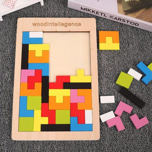 PuzzleTetrisEnBois 7 Puzzle Tetris En Bois: Contribuer Aux Développements De Vos Petits