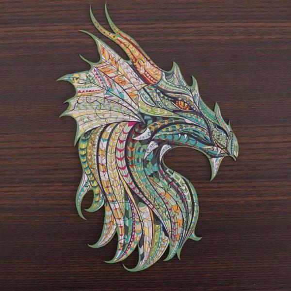 Puzzles D'animaux En Bois: Un Jeu Passionnant Qui Convient Aux Enfants Et Aux Adultes - Dragon / A5