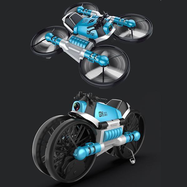Quadricoptère Pliant : Avec Transmission Wifi En Temps Réel - Bleu avec contrôle gestuel